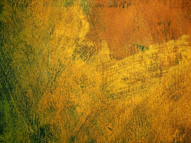 カラフルなペイントブラシストローク油絵ゴールド