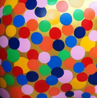 カラフルなサークル油絵マルチカラーの抽象的な背景とテクスチャー