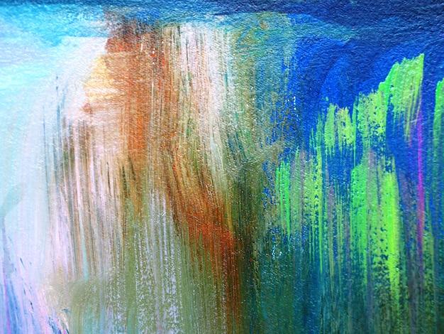 キャンバスの抽象的な背景とテクスチャにカラフルな油絵ブラシストローク