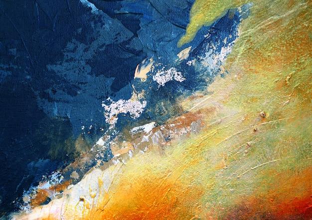 抽象的な背景とテクスチャのカラフルな油絵マルチカラー。