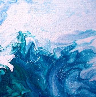 青い海の抽象画油絵