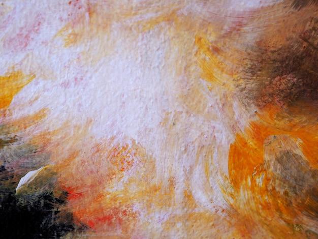 手は、テクスチャとカラフルな水彩画の抽象的な背景を描く