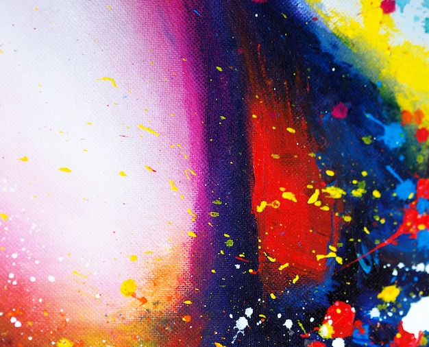 カラフルな抽象的な油絵