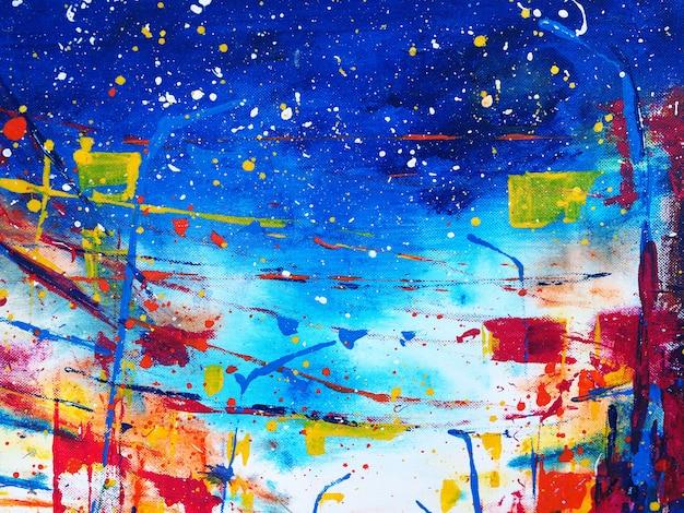 手描きの抽象的なカラフルな水彩画