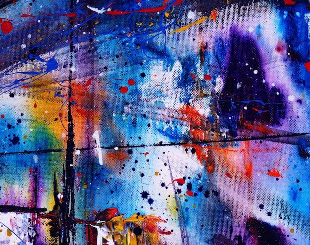 手描きのテクスチャとカラフルな水彩画祭の抽象的な背景