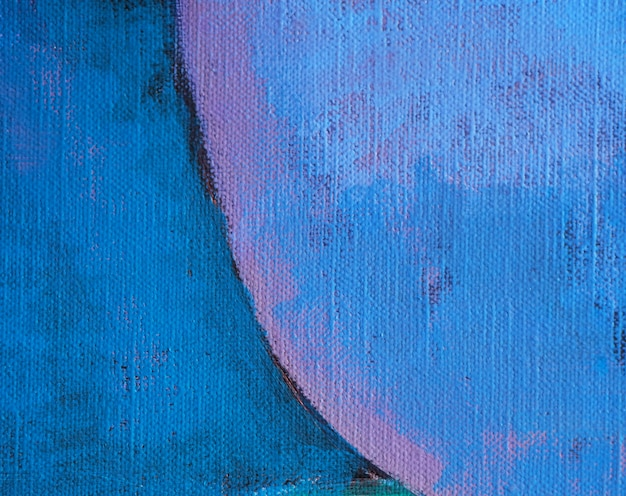 Рука нарисовать масляной живописи синий цвет абстрактного фона и текстуры.