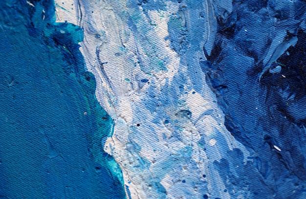 青い絵画の自然な抽象的な背景とテクスチャー。
