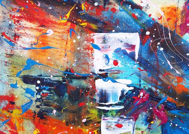 手描カラフルな水彩画の抽象的なテクスチャ