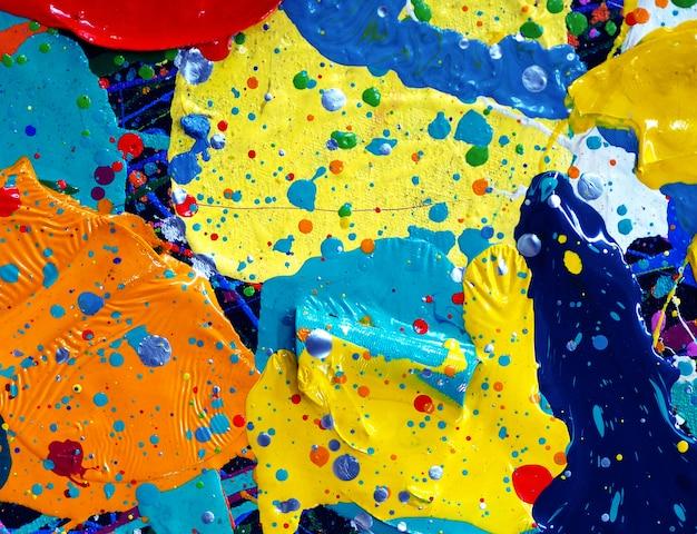 Рука рисовать красочные масляной краской абстрактные текстуры.
