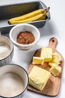 Ингредиенты для рецепта бананового хлеба