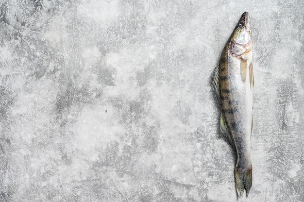 Вид сверху сырой рыбы
