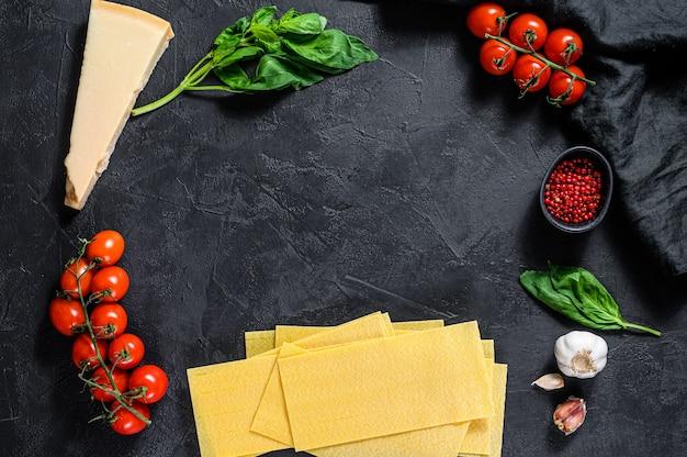 Концепция приготовления лазаньи.