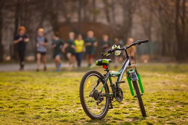 野道の自転車