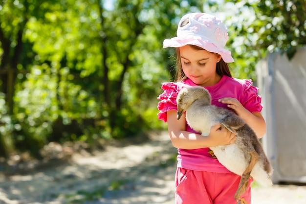 ガチョウを持つ少女