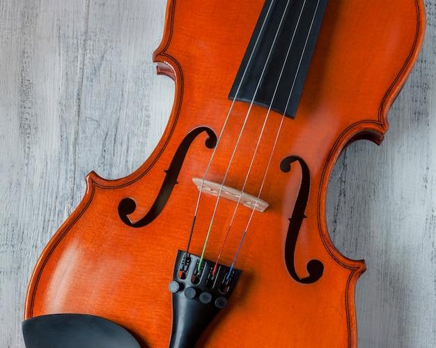 バイオリンのクローズアップショット