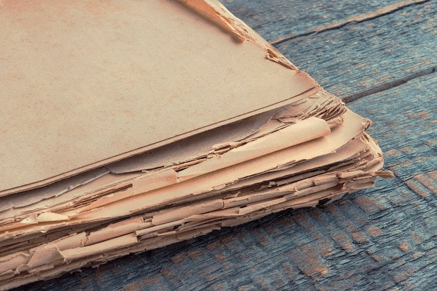 古い紙のスタック
