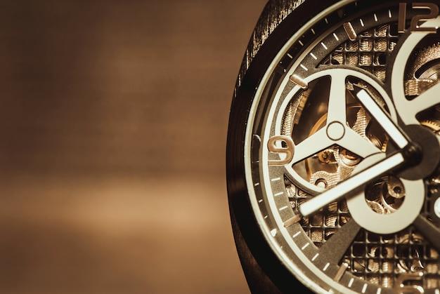 時計の動きのマクロ撮影