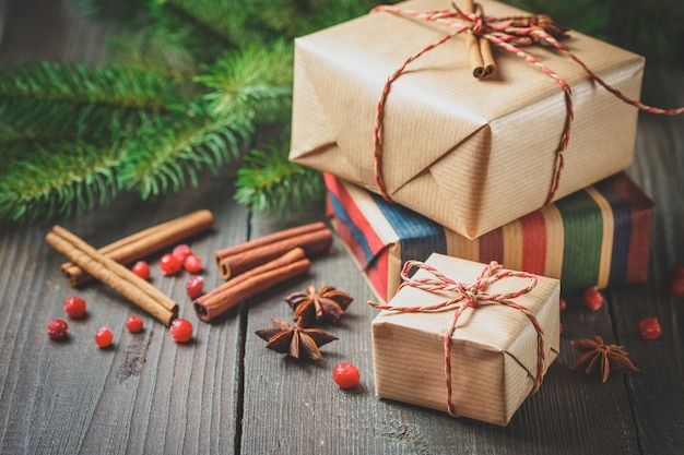 装飾クリスマスギフトボックス