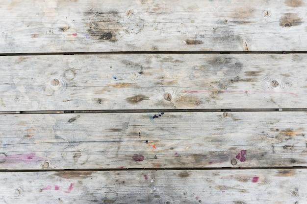 スポットと白い木製の背景。テクスチャ。