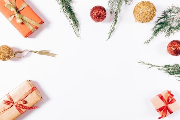 クリスマスの飾りのトップビュー