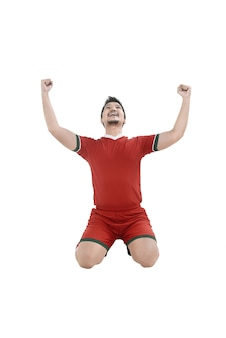 勝利のフットボール選手