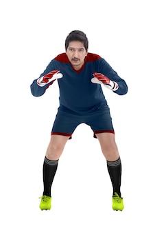 サッカーのゴールキーパーの画像