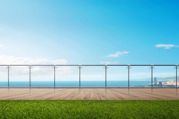青い空と海の景色