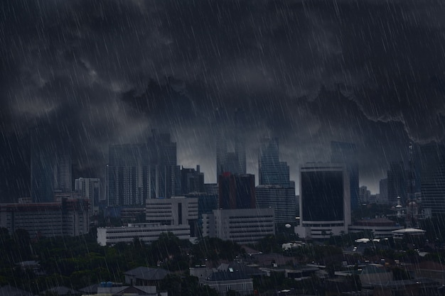 雷雨と暗い雨の雲