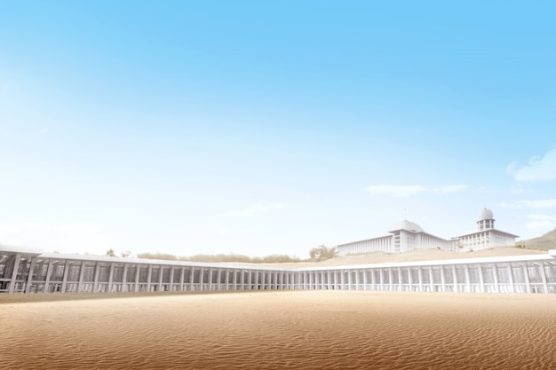 砂漠の美しいモスク