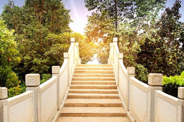 木と中国のアーチ橋