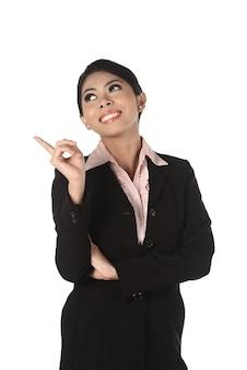 アジアのビジネス女性を指す