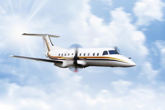 プロペラ飛行機の飛行