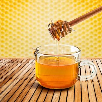 蜂蜜ディッパーと蜂