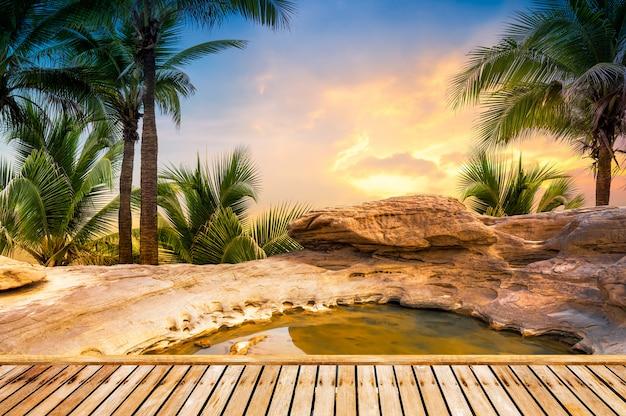 オープンエア温泉スパの背景