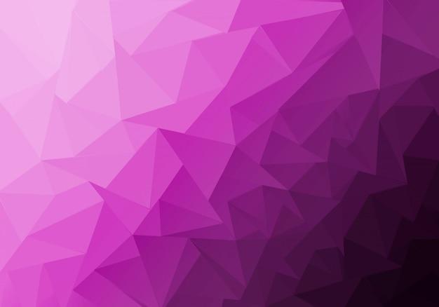 三角形で構成される多色の多角形の図。