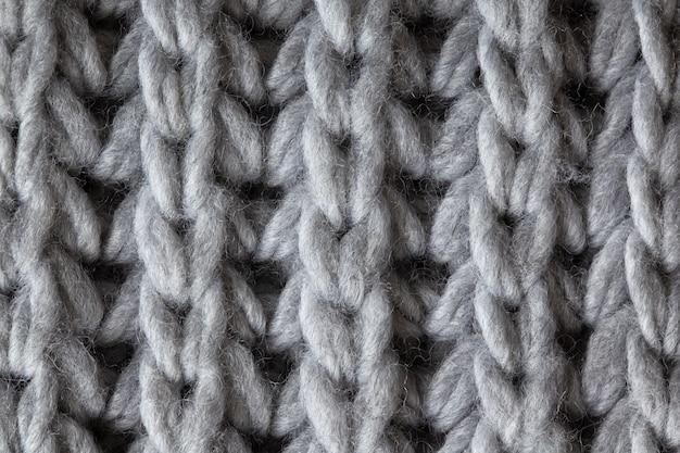 ニットウールの織り目加工の表面、マクロ。
