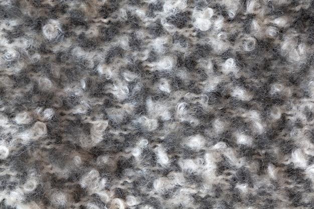 ウールのふわふわブークレスカーフ、マクロ。