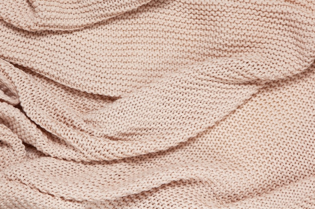 Фактурная поверхность пледа из хлопкового трикотажа