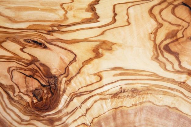 オリーブの木の質感、木製カットの背景。