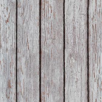 天候により磨耗した白塗りの木製表面。白く塗られた板。木の板の背景のテクスチャ