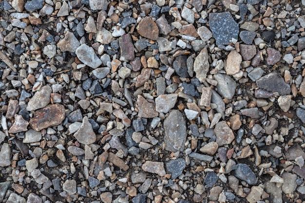 砕石と砂利、抽象的な背景テクスチャのパターン