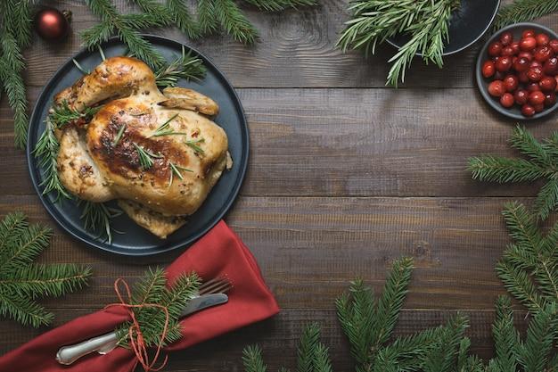 Рождественская жареная индейка со специями