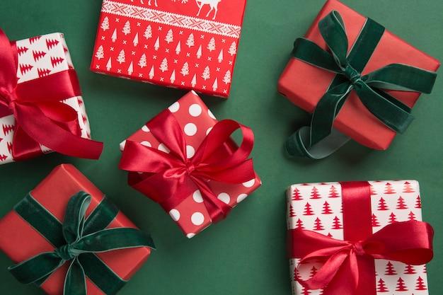 ホリデーギフトのクリスマスのパターン。ボクシングデー。