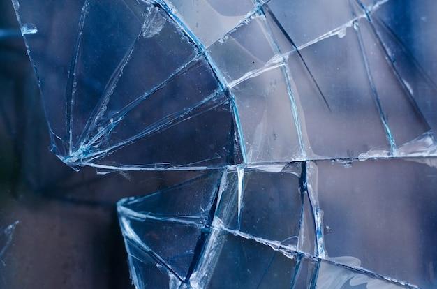 事故割れた破損した家の窓ガラス