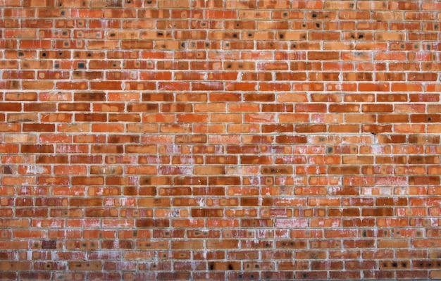 Текстура старой красной кирпичной стены с цементными и бетонными швами
