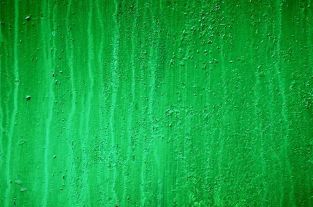 塗られた緑の鉄の金属板、鉄の質感の背景