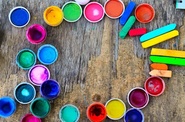 Набор гуашевых красок и акварели для рисования, художественные инструменты
