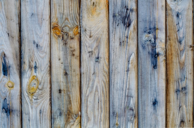 塗料なしのフェンスボードの天然木
