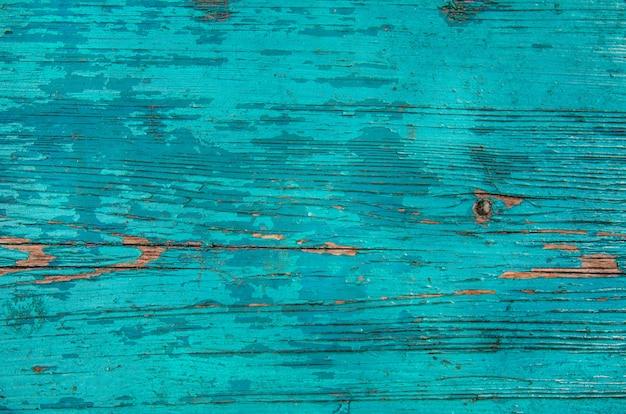 Трещины выветривания синий и зеленый потертый шик окрашенные деревянные доски текстуры, вид спереди