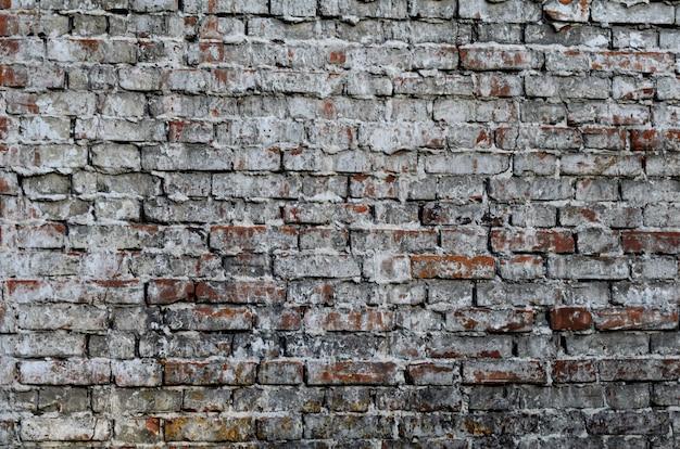 Текстура старинной деревенской старой красной кирпичной стены